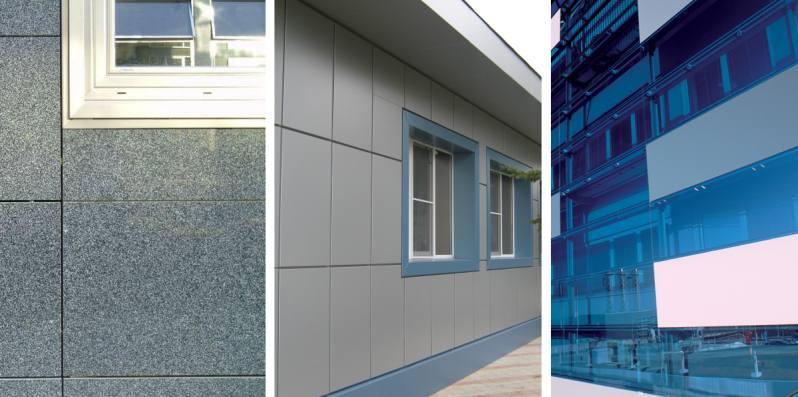 Облицовка стен керамогранитными, композитными и стеклянными панелями