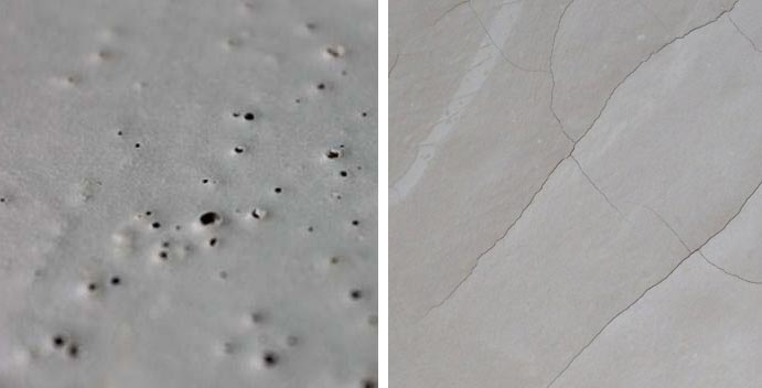 Вследствие неправильного монтажа наливного пола на поверхности могут появиться неровности и трещины