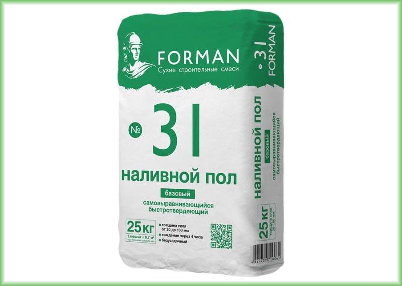 Гипсовая смесь Forman 31 для базового наливного пола