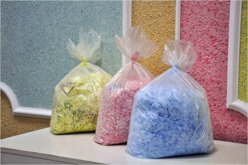 Основной компонент жидких обоев – натуральные волокна
