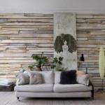 Отделка стен деревом
