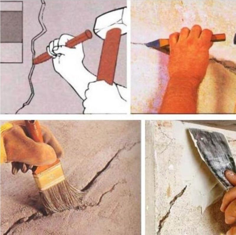 Устранение дефектов на бетонной поверхности