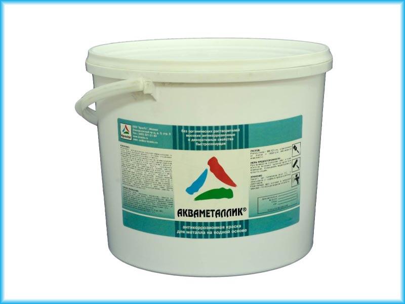 Водная антикоррозионная акриловая грунт-эмаль по металлу Акваметаллик