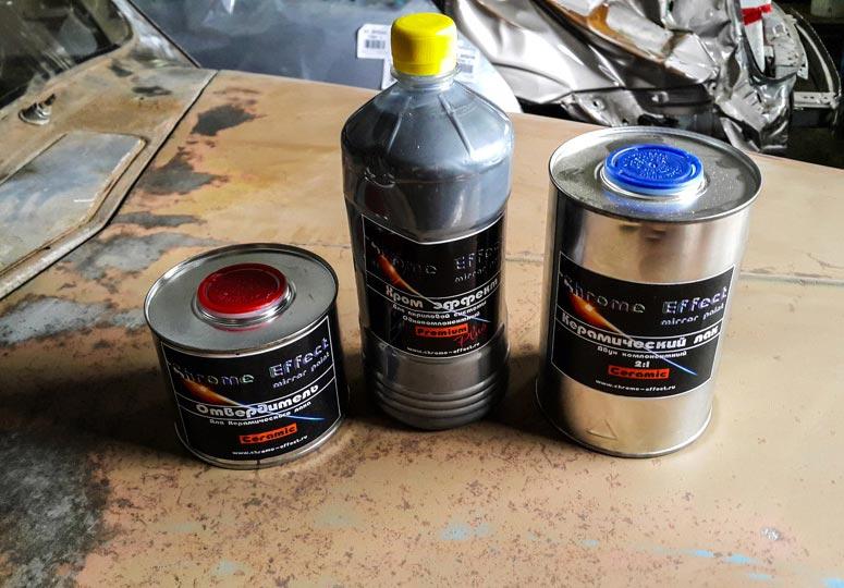Использование краски под хром: получение зеркального покрытия