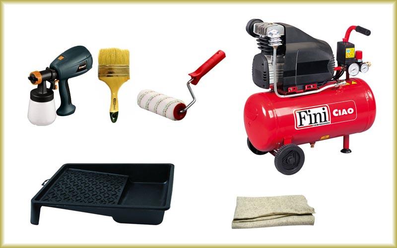 Необходимые инструменты для окрашивания