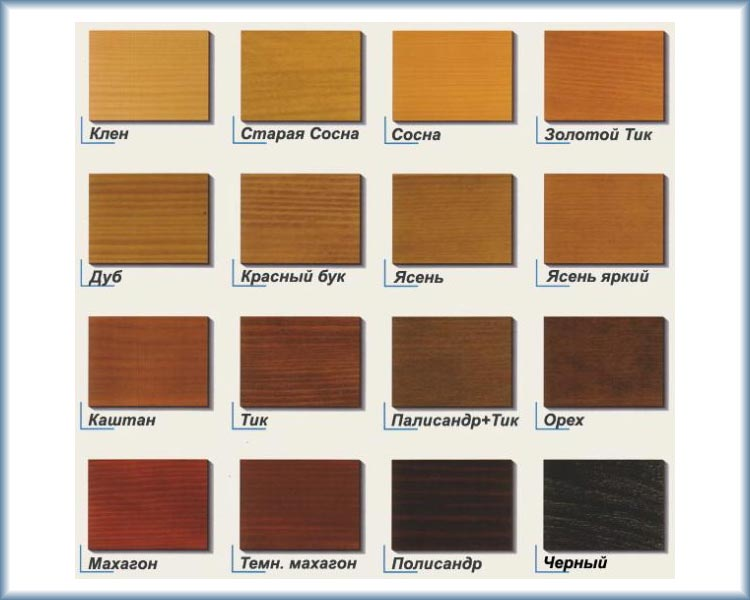 Цветные лаки позволяют имитировать разнообразные породы древесины
