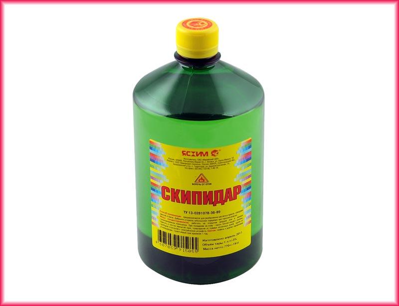При разбавлении краски очищенным скипидаром, в отличие от неочищенного, ускоряется процесс высыхания поверхности