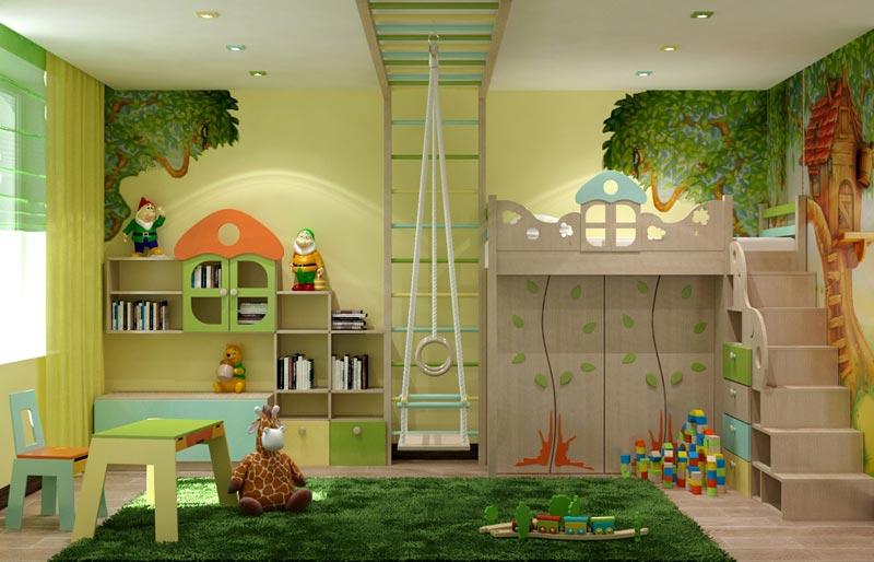 Лучшим решением для оформления детской комнаты станут природные оттенки краски