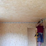 Потолок из плит ОСБ
