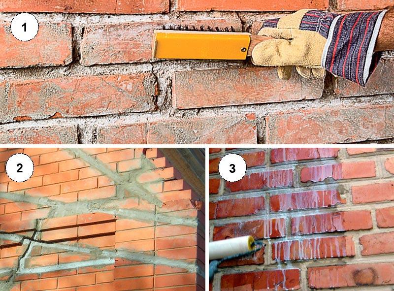 Подготовка кирпичной стены к обшивке
