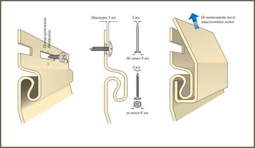 Монтаж сайдинга с учетом теплового зазора