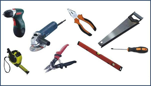 Инструменты, необходимые для обшивки стен сайдингом