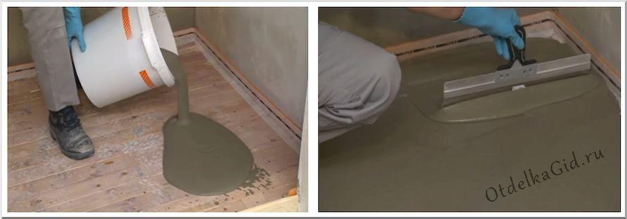 Наливные самовыравнивающиеся полы обустраиваются быстрее и проще, чем цементно-песчаная стяжка