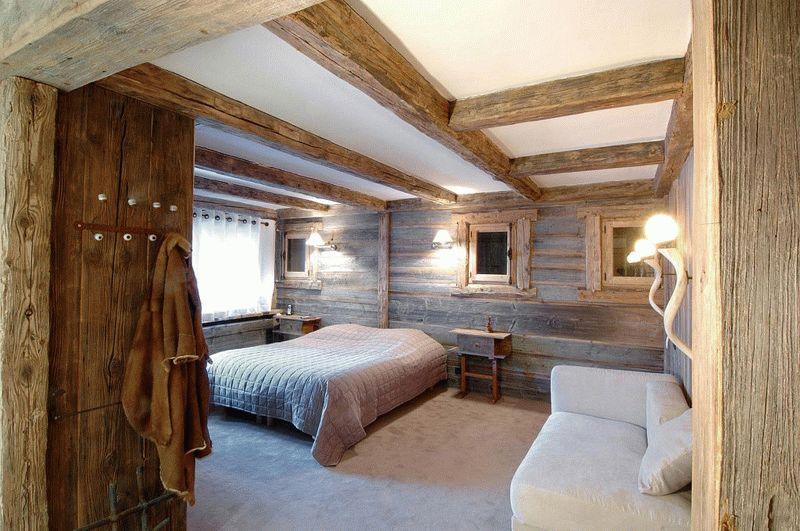 Экостиль в интерьере спальной комнаты