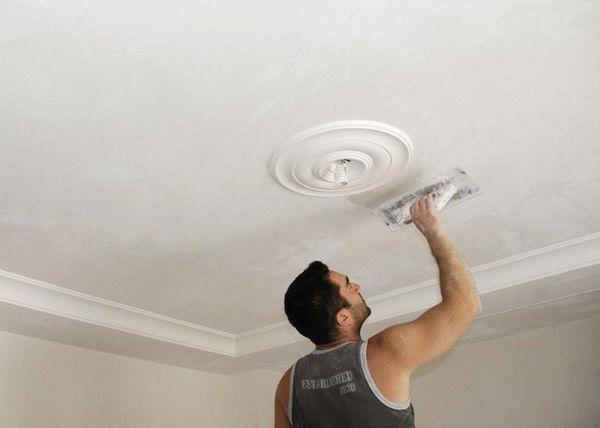 Как шпаклевать потолок под покраску