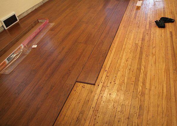 Укладка ламината на деревянный пол