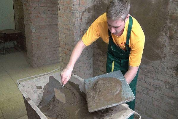 Работа с цементно-песчаной штукатуркой