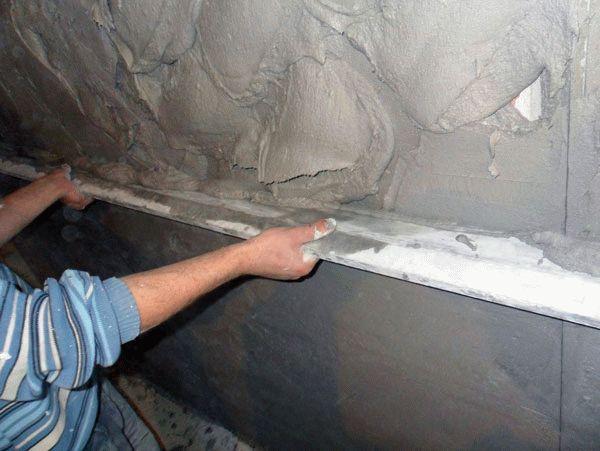 Штукатурка стен цементно-песчаным раствором