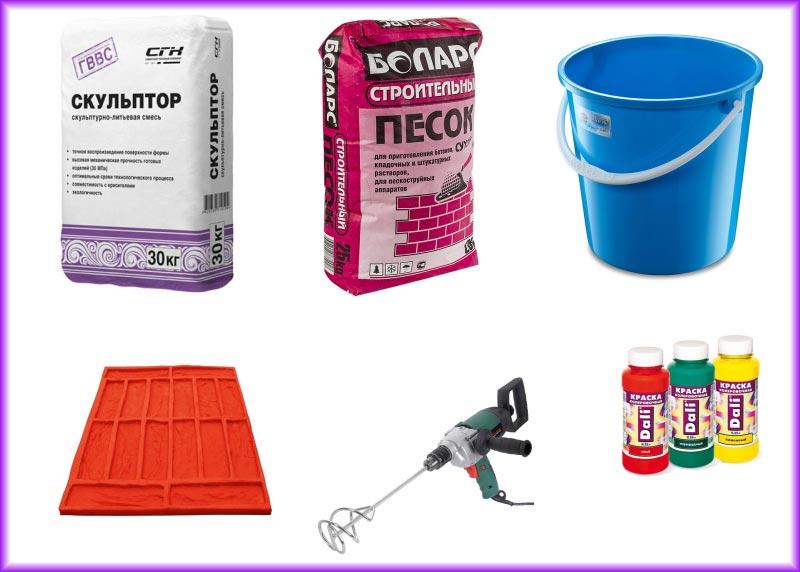 Материалы для изготовления плитки