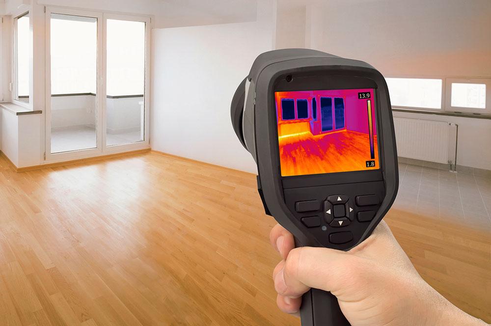 Обследование зданий с помощью тепловизора
